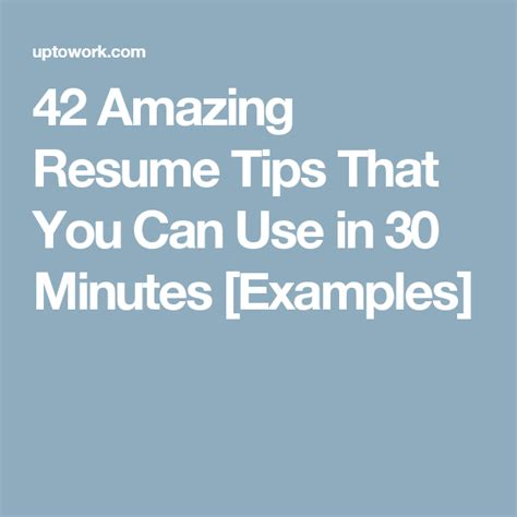 Resume Writing Tips For Marketing Professionals 42 Amazing Resume Tips That You Can Use In 30 Minutes