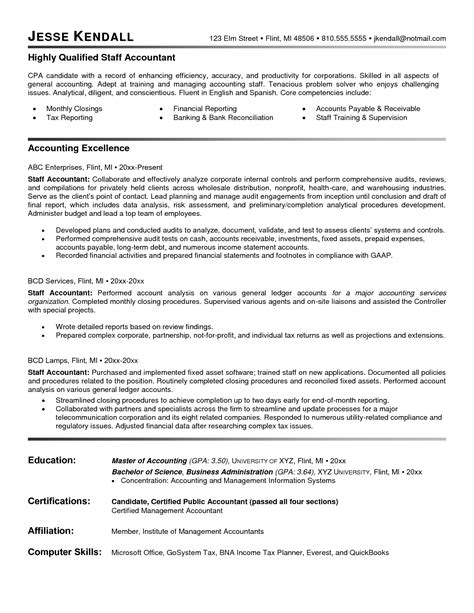 Resume Writing Format For Accountant Accountant Resume Sample And Tips Resume Genius