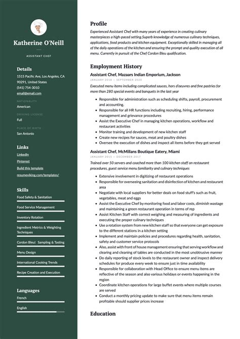 sample resume youth director