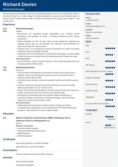 Resume Writing Tips For Marketing Professionals Marketing Resume Tips To Market Your Skills