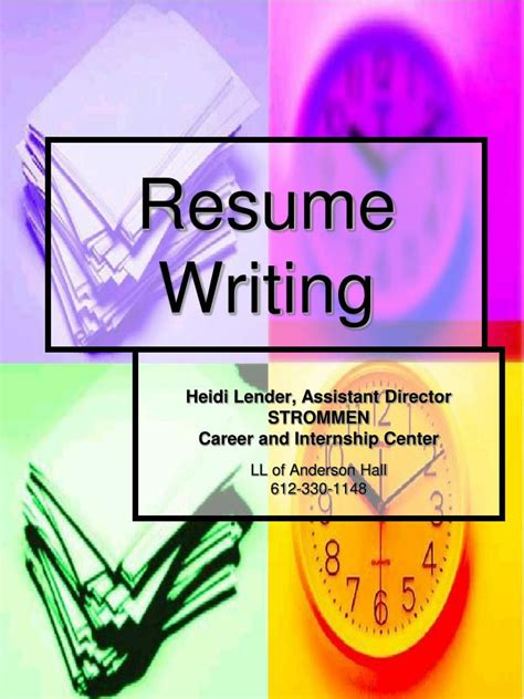 Resume Writing Ppt Ppt Resume Writing Powerpoint Presentation Free To View