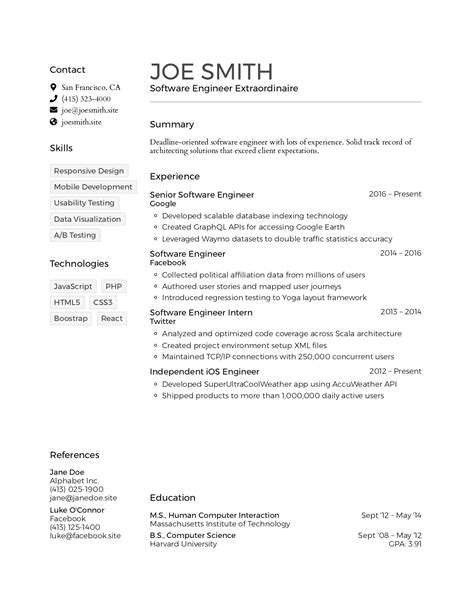 resumes html format writing your resume in html format eberly college of - Resume In Html Format