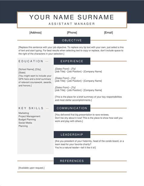 resumes online templates free resume templates download microsoft word resumes - Free Resume Online Download