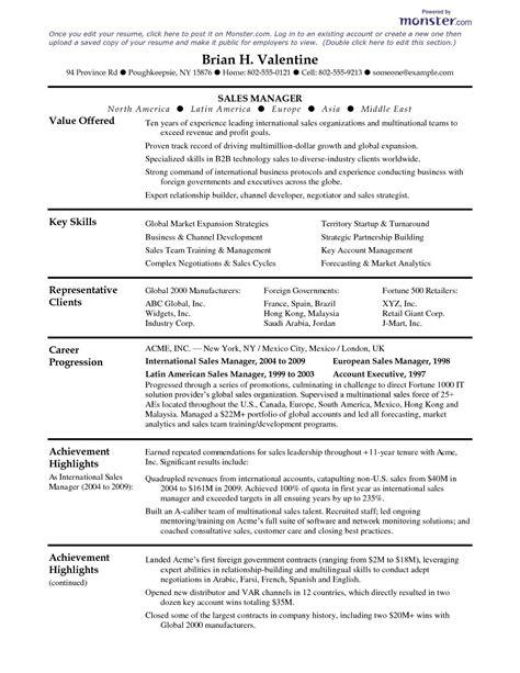 resumes templates monster resume on monster