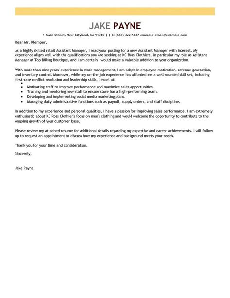 Retail Cover Letter Example Sales Assistant Case Study Analysis