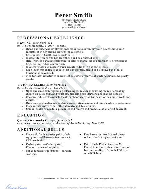 retail sales consultant resume sample sample sales resume and tips - Retail Sales Resume Sample