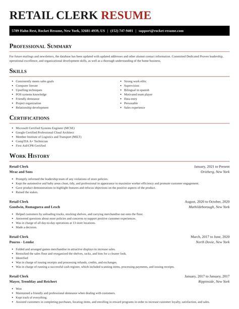 sample resume for retail stock clerk retail stock clerk resume sample free resume builder