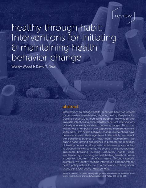 [pdf] Review Healthy Through Habit Interventions For Initiating .