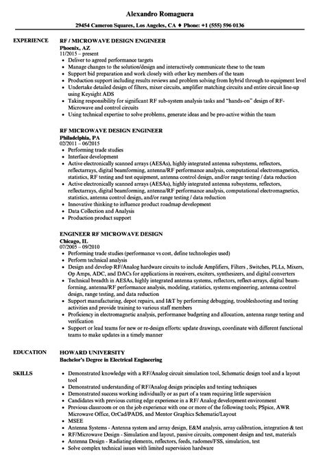 rf design engineer resume sample sample cv for engineers engineers cv formats templates - Rf Design Engineer Sample Resume
