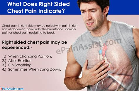 right side pain in chest and back