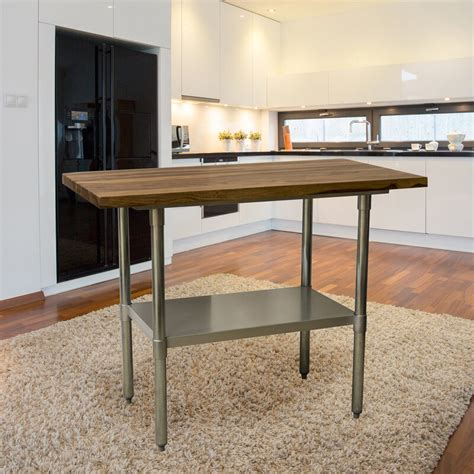 Robles Prep Table with Solid Wood Top