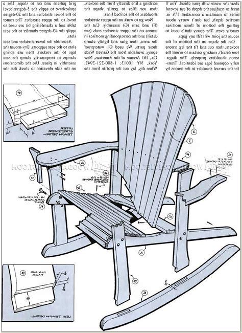 Rocking Chair Blueprints