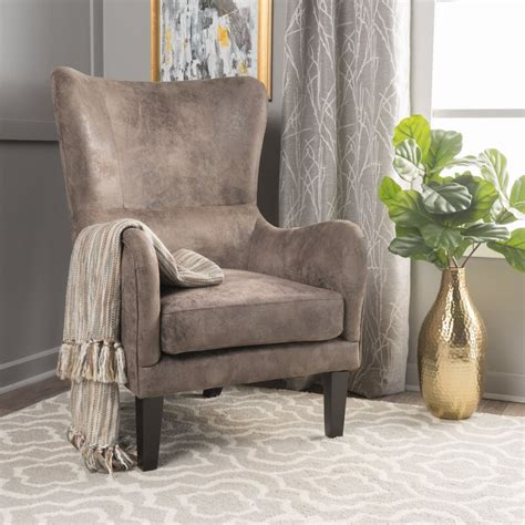 Rockport Hi-Back Studded Wingback Chair