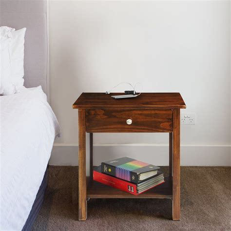 Roessler Nightstand with USB Port