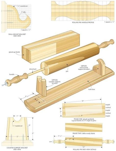 Rolling Pin Woodworking Plans
