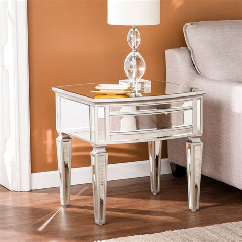 Romarin Mirrored End Table