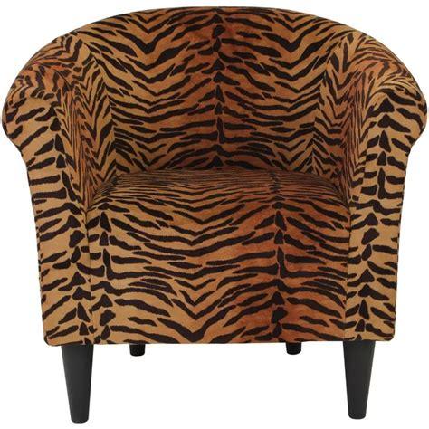 Ronda Traditional Animal Print Barrel Chair