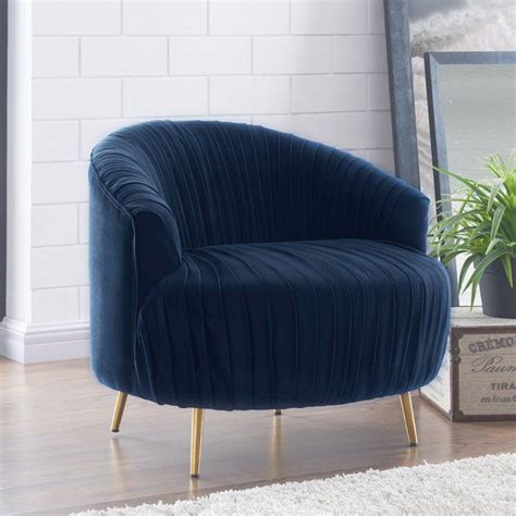 Ronna Ruched Barrel Chair