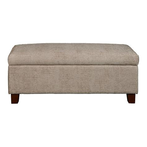 Roper Hinged Top Aldo Overcast Upholstered Storage Bench