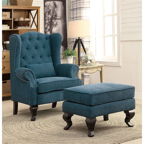 Roselle Wingback Chair and Ottoman (Set of 2)