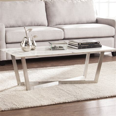 Rosenbalm Faux Marble Coffee Table