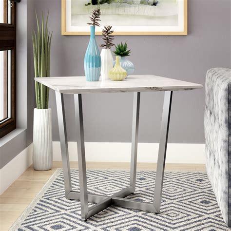 Rosenbalm Faux Marble End Table