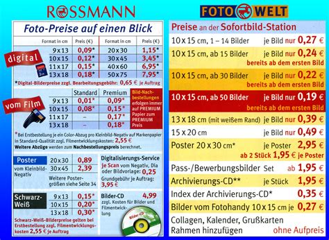 Rossmann Fotos Preise