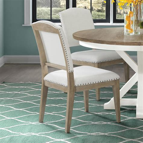 Roudebush Wooden Upholstered Dining Chair (Set of 2)