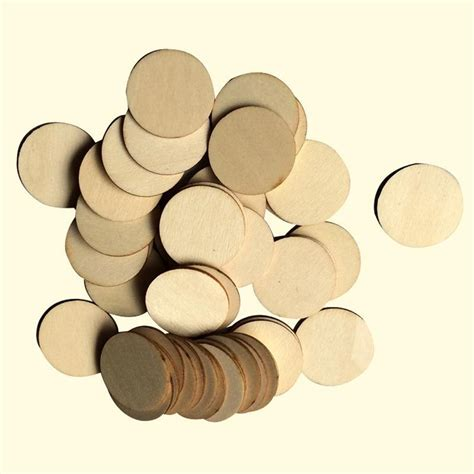 Round Wood Pieces For Crafts