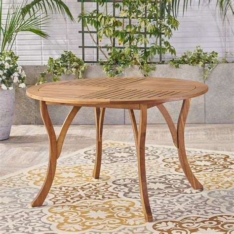 Round Wooden Outdoor Table