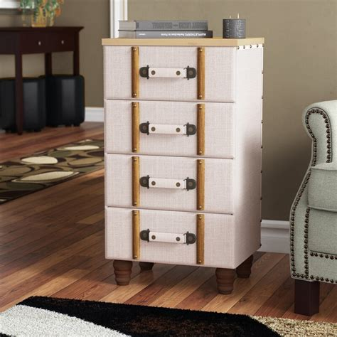 Rowan Padded 5 Drawer Accent Chest