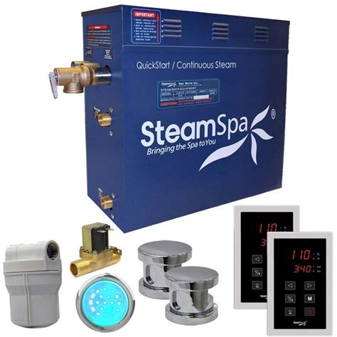 Royal 12 kW QuickStart Steam Bath Generator Package with Built-in Auto Drain
