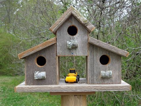 rustic old barn wood birdhouses plans