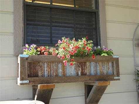 rustic window planter boxes