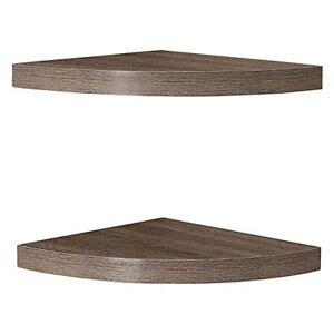 Rustic Corner Radial Corner Shelf (Set of 2)