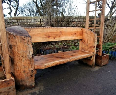 Rustic Log Bench Designs