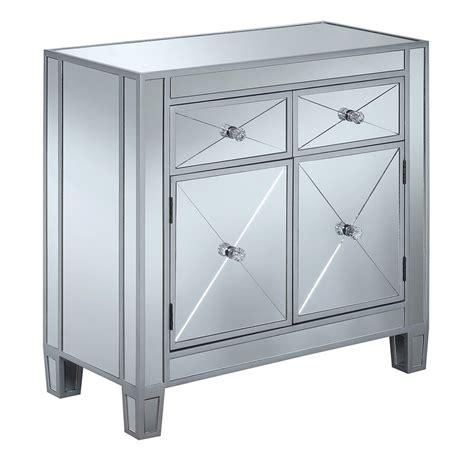 Sagaponack Mirrored 2 Drawer Accent Cabinet