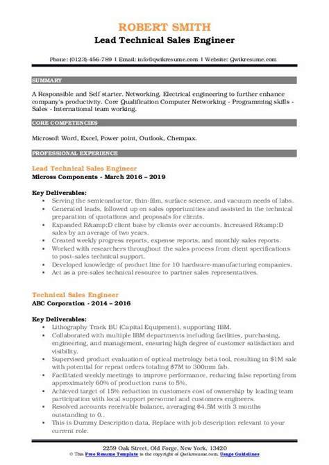 sample resume of mechanical sales engineer sales engineer resume marketing technical job - Mechanical Sales Engineer Sample Resume
