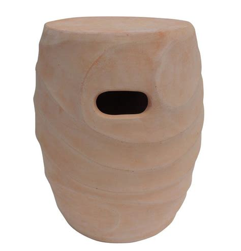 Salinas Clay Garden Stool