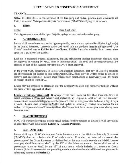 Sample Agreements Between Two Parties Concession Agreement Agreements Sample Agreements