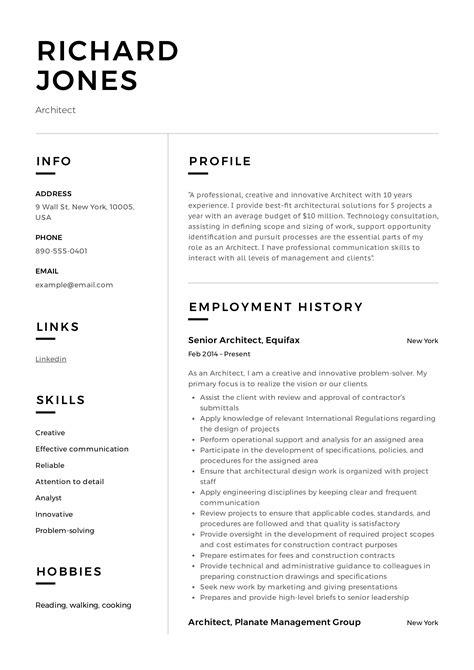 sample architect resume templates architect resume best sample resume