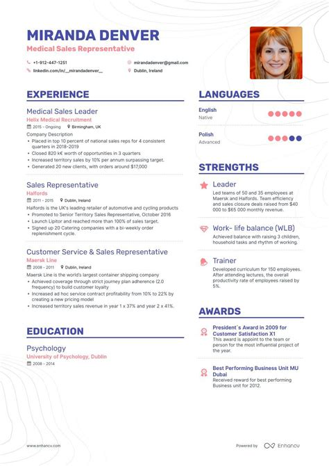 representative resume sample medical - Sample Resume For Medical Representative