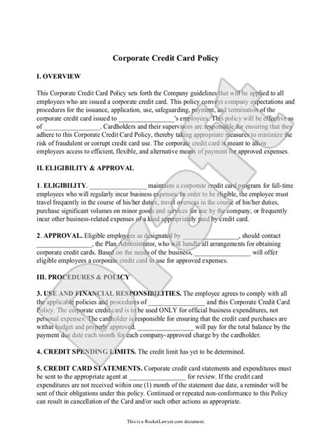 Business Credit Card Usage Policy Employees Image Collections  Card