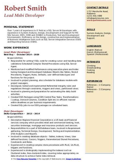 sample business analyst resume india msbi sample resume bi developer resume bi resume