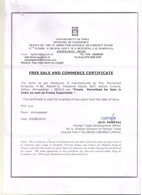 Sample certificate of manufacture and free sale image collections sample certificate of free sale china gallery certificate design yadclub Gallery
