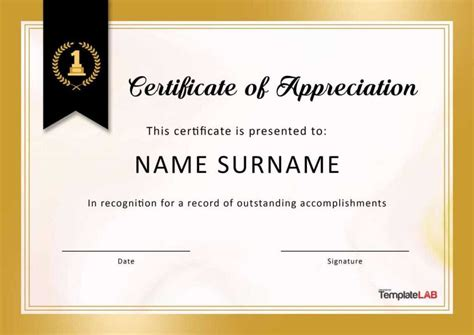 sample certificate appreciation community service appreciation letters sample letters