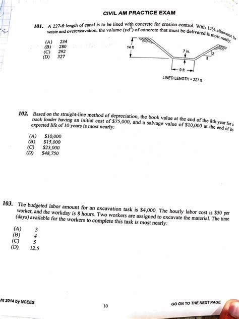 Sample Civil Engineering Questions Pe Civil Exam Review Course Pe License School Of Pe