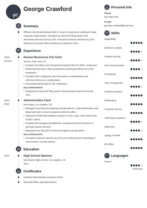 clerical work in resume   intensive care nurse resume templateclerical work in resume sample clerical resume and tips