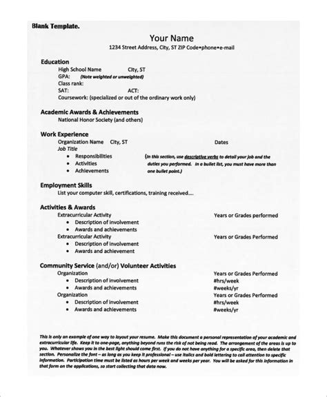 sample college resume for high school seniors high school resume best sample resume