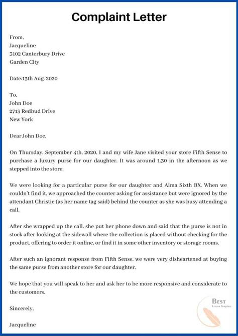 Complaint letter about employee write letters in spanish complaint letter about employee complaint letter sample complaint letter format expocarfo Choice Image